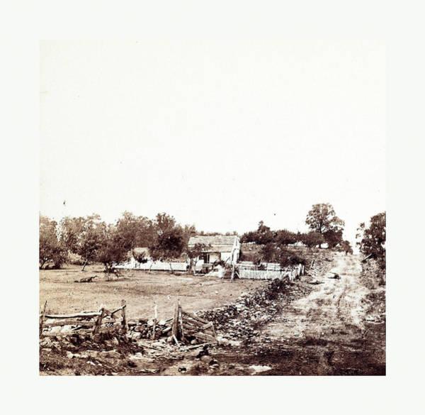 Cemetery Ridge Photograph - American Civil War General Meades Headquarters At Gettysburg by American School
