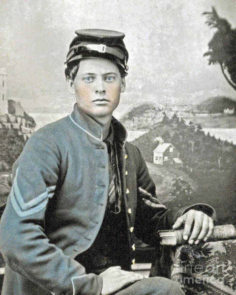 Photograph - An American Civil War Soldier by Celestial Images
