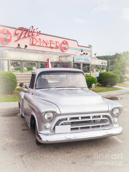 Photograph - American Classics Tilton Diner Classic Pickup Truck by Edward Fielding