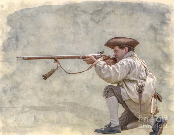 Musket Digital Art - American Colonial Militia Rifleman by Randy Steele