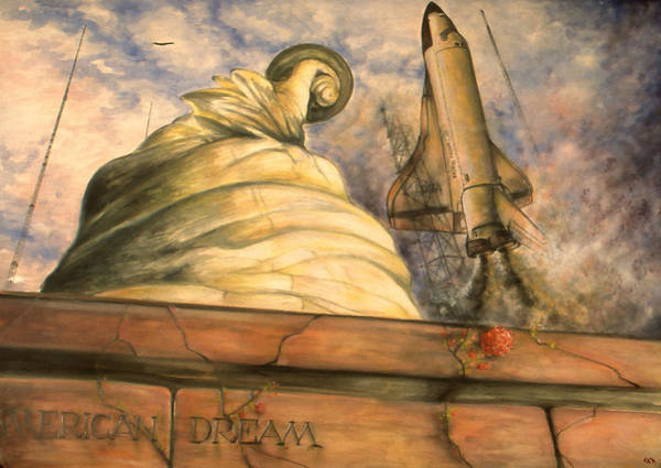 Drawing - American Dream - Watercolor by Peter Potter