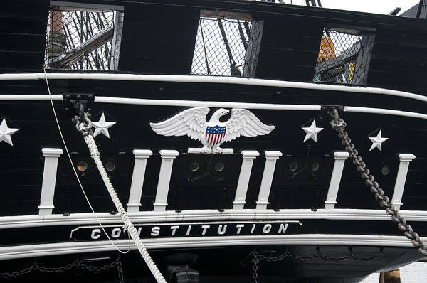 Photograph - American Eagle On World's Greatest Wooden Warship by Brenda Kean