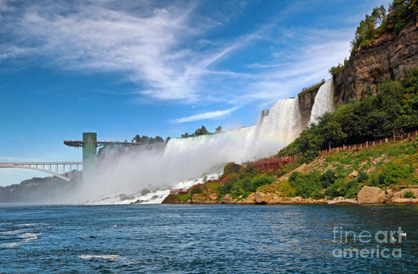 Niagara Falls State Park Photograph - American Falls Landmarks by Charline Xia