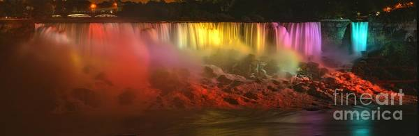 Photograph - American Falls Rainbow Colors by Adam Jewell