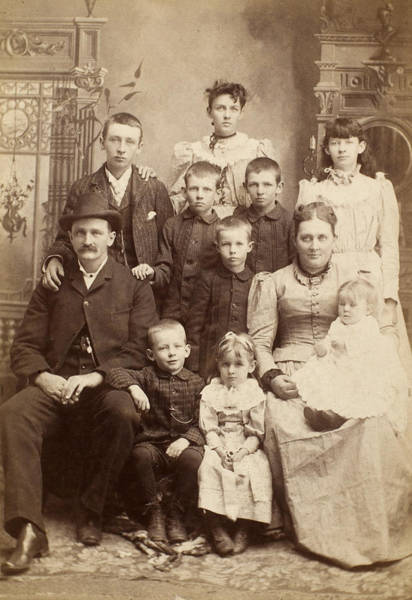Photograph - American Family, C1880 by Granger