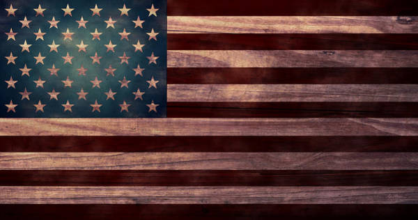 Moon And Stars Wall Art - Digital Art - American Flag I by April Moen