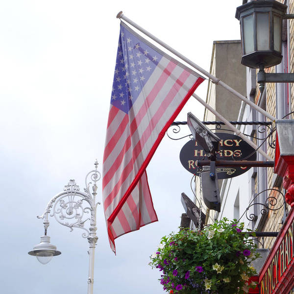 Photograph - American Flag In Dublin by Sharon Popek