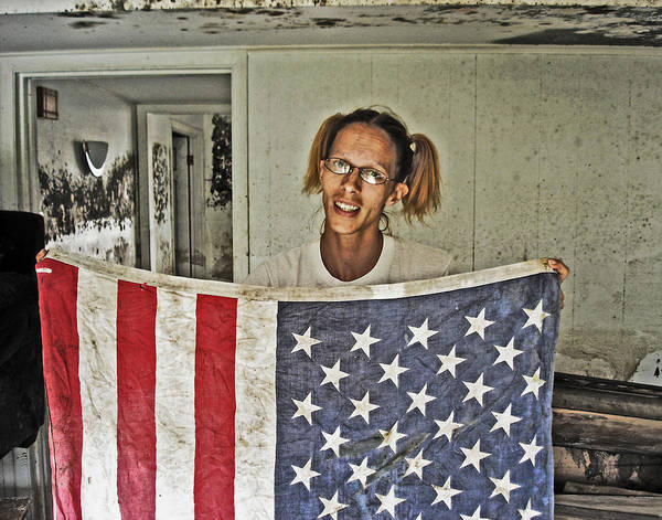 Photograph - American Flag In New Orleans by Louis Maistros