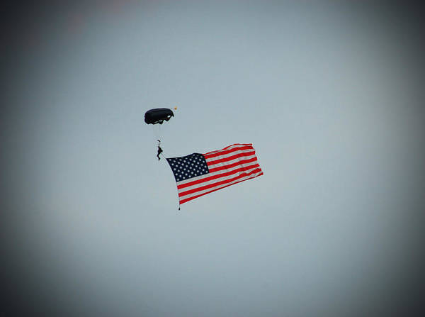 Base Jumping Photograph - American Flag In The Sky by Aimee L Maher ALM GALLERY