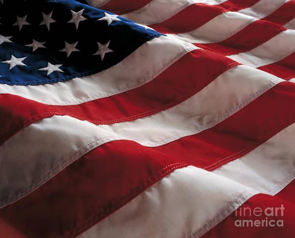 Stars And Stripes Wall Art - Photograph - American Flag by Jon Neidert