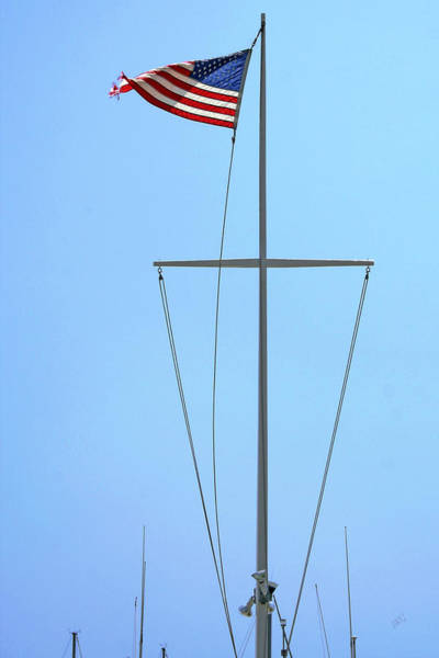Photograph - American Flag On Mast by Ben and Raisa Gertsberg