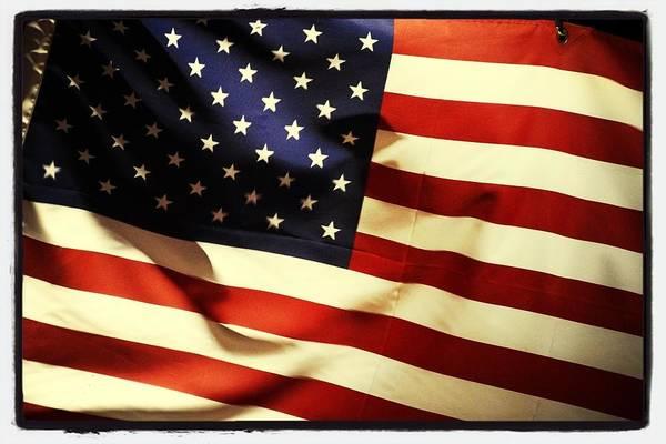 Usa Flag Photograph - American Flag On Wind, Full Frame by Yoshiki Usami / Eyeem