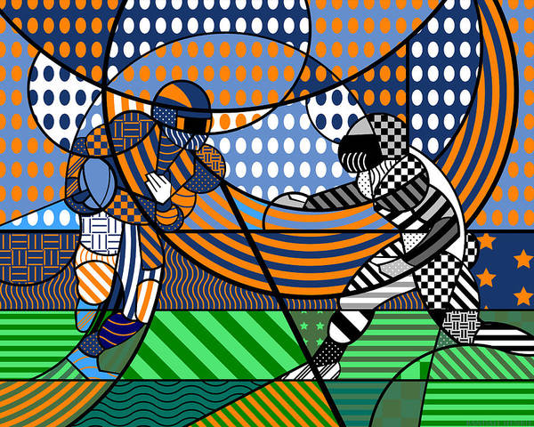 Digital Art - American Football - Broncos by Randall Henrie