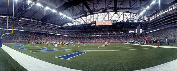 Detroit Lions Photograph - American Football Match At Ford Field by Panoramic Images