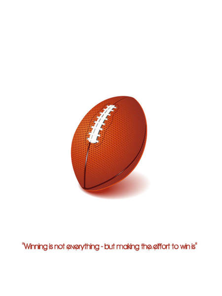 Digital Art - American Football Quote Minimalist Sports Poster by Adam Asar