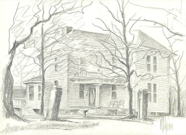 Drawing - American Home II by Kip DeVore