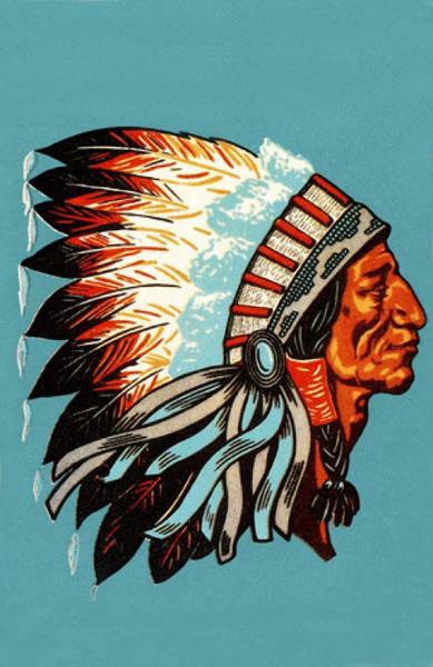 American Indian Chief Profile Art Print