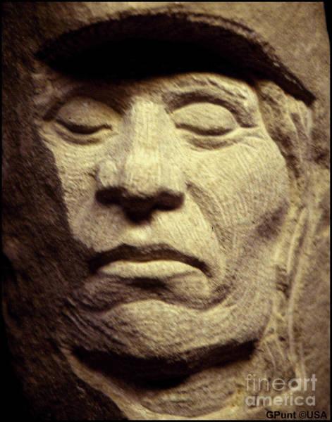 Sculpture - American-indian-portrait 2 by Gordon Punt