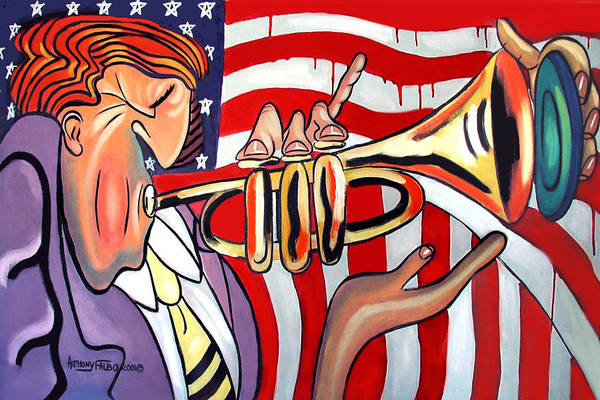 Painting - American Jazz Man by Anthony Falbo