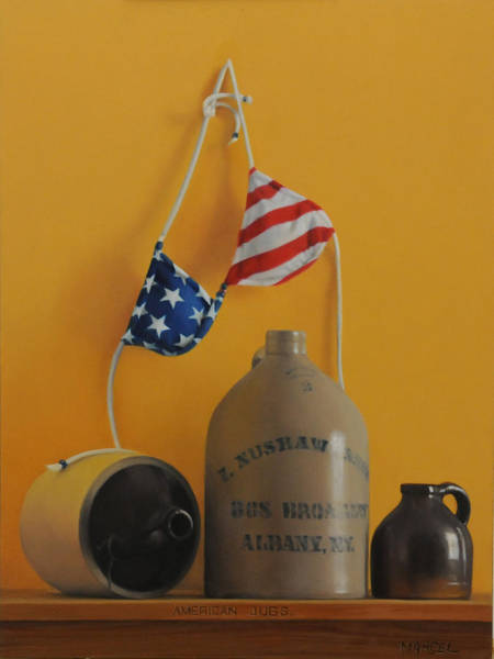 Wall Art - Painting - American Jugs by Marcel Franquelin