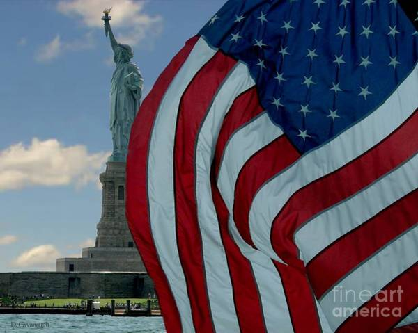 Photograph - American Liberty by Donna Cavanaugh