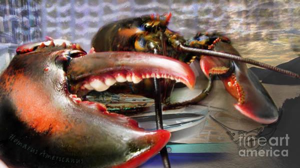 Digital Art - American Lobster by Lisa Redfern