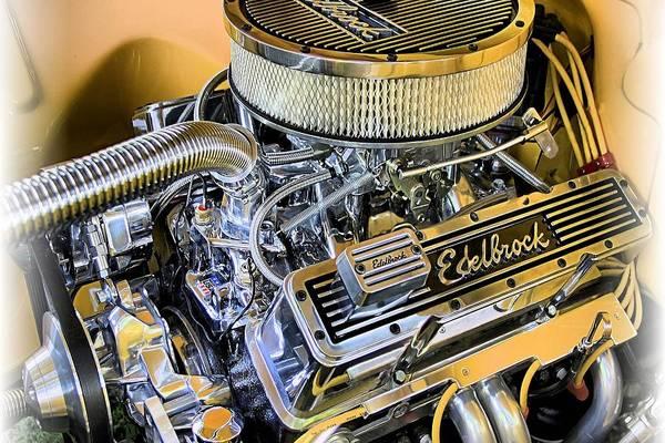 V8 Engine Photograph - American Muscle by DJ Florek