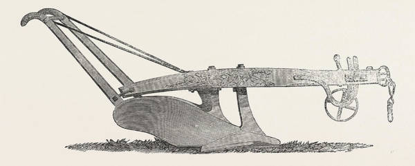 Early American History Drawing - American Plough by English School