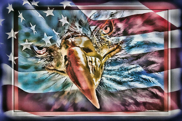 Painting - American Pride by Donna Proctor
