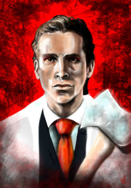 Serial Killer Painting - American Psycho by Vinny John Usuriello