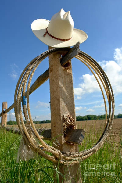 Roping Photograph - American Ranch by Olivier Le Queinec