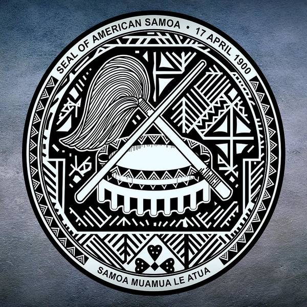 Digital Art - American Samoa Seal by Movie Poster Prints