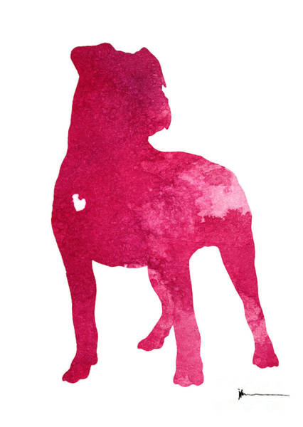 Staffordshire Wall Art - Painting - American Staffordshire Terrier Large Poster by Joanna Szmerdt