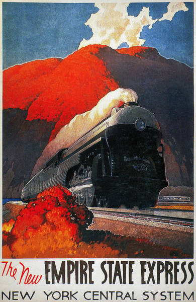 Photograph - American Train Poster by Granger
