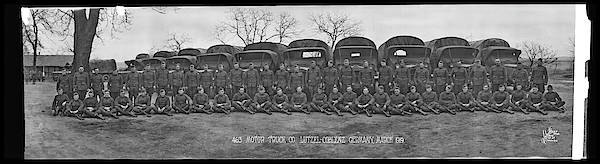 Platoon Wall Art - Photograph - American Troops, 463 Motor Truck Co by Fred Schutz Collection