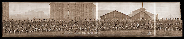 Platoon Wall Art - Photograph - American Troops At Clignancourt by Fred Schutz Collection