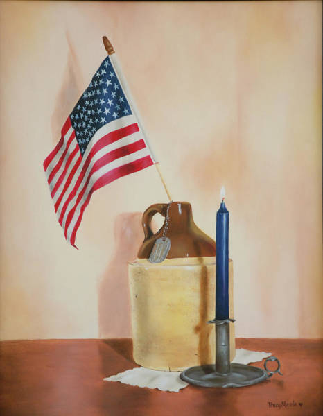 Service Dog Painting - American Veteran by Tracy Meola
