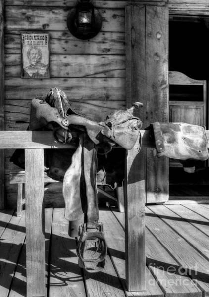 Photograph - American Wild West Bw by Mel Steinhauer
