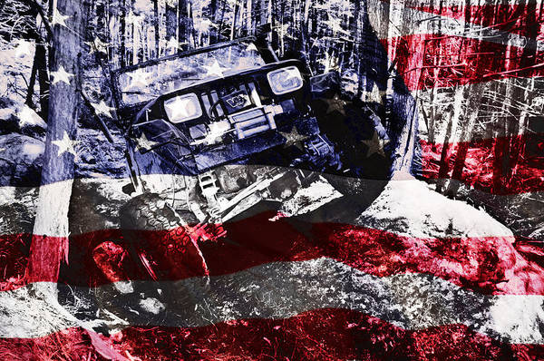Jeep Wall Art - Photograph - American Wrangler by Luke Moore