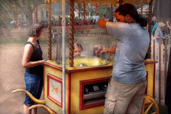 Photograph - Americana - Candy - Getting Cotton Candy  by Mike Savad