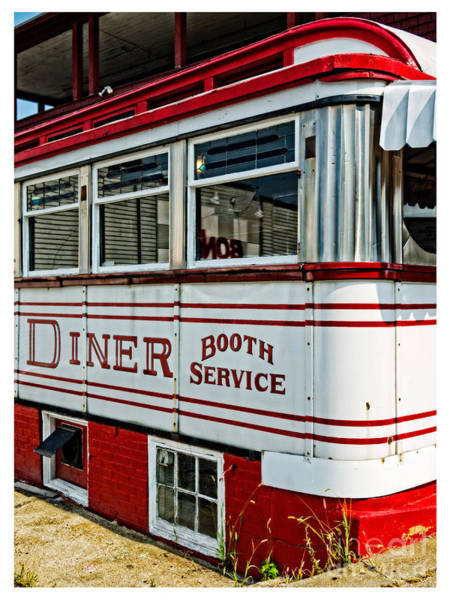 Diner Wall Art - Photograph - Americana Classic Dinner Booth Service by Edward Fielding
