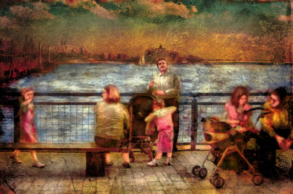 Digital Art - Americana - People - Jewish Families by Mike Savad