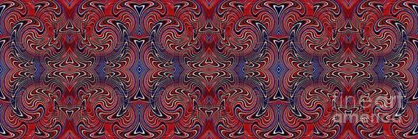 Wall Art - Digital Art - Americana Swirl Banner 3 by Sarah Loft