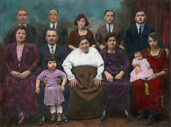 Colorization Photograph - Americana - This Is My Family 1925 by Mike Savad