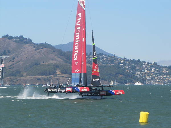 Americas Cup Photograph - Americas Cup Emerates 1 by James Robertson
