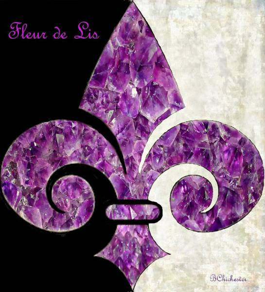 Fleur De Lys Painting - Amethyst Fleur De Lis by Barbara Chichester