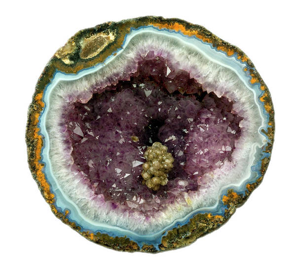 Geodes Photograph - Amethyst Geode by Natural History Museum, London/science Photo Library
