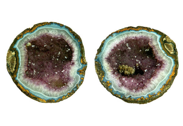 Wall Art - Photograph - Amethyst Geodes by Natural History Museum, London/science Photo Library