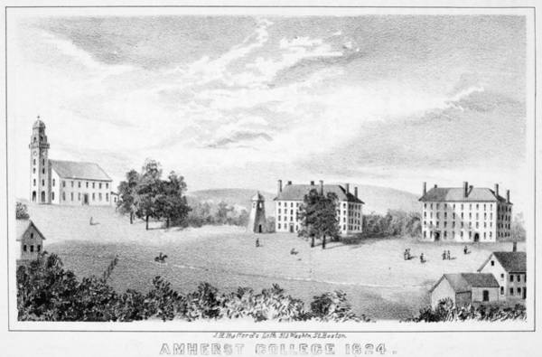 College Campus Painting - Amherst College, 1824 by Granger