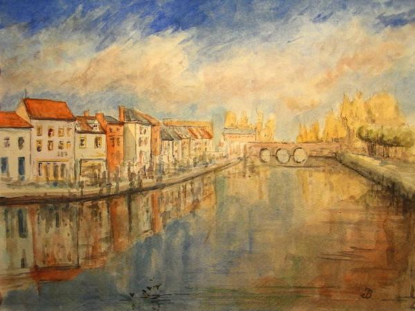 Wall Art - Painting - Amiens France by Juan  Bosco